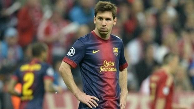 Messi ficou apagado por toda a partida. Foto: (UEFA.com)